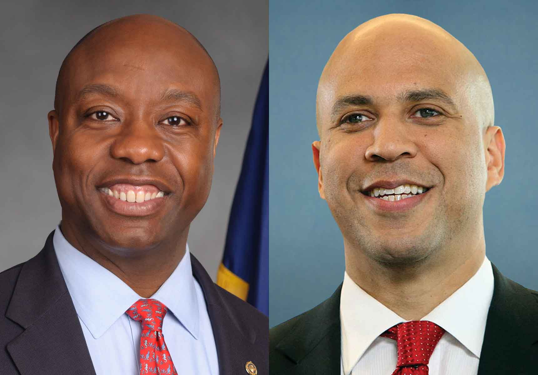 Senators Tim Scott (R-SC) and Cory Booker (D-NJ)