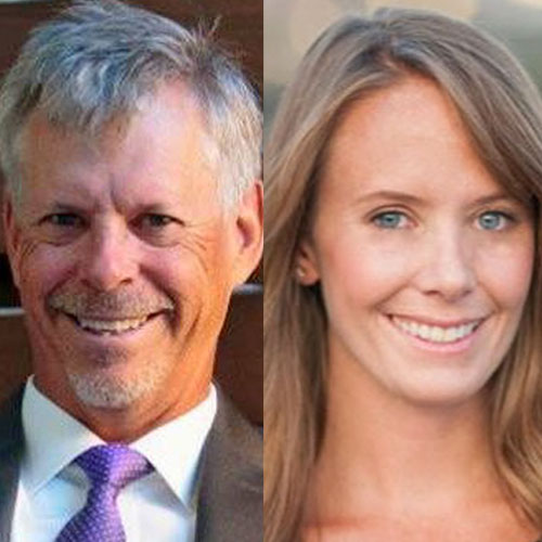 Len Mills and Natalie Elder